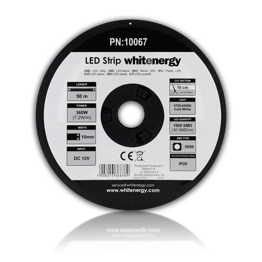 WE LED páska 50m SMD5050 7.2W/ m 10mm studená bílá