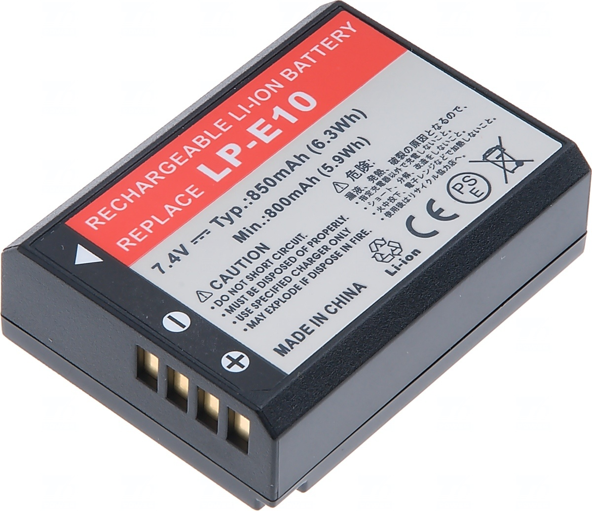 Baterie T6 power Canon LP-E10, 1050mAh, 7, 8Wh, černá