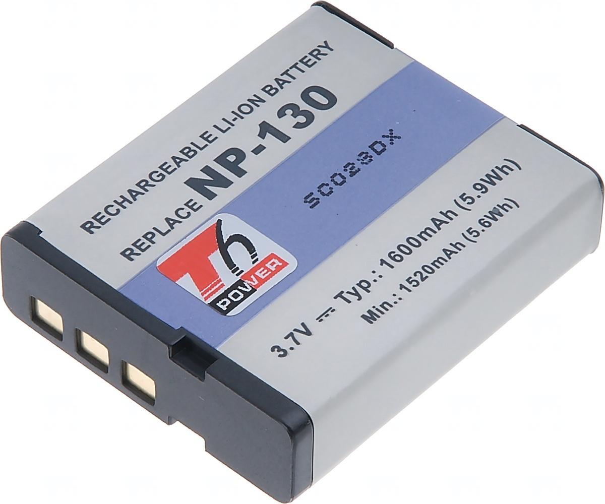 Baterie T6 power Casio NP-130, 1400mAh, 5, 2Wh, černá