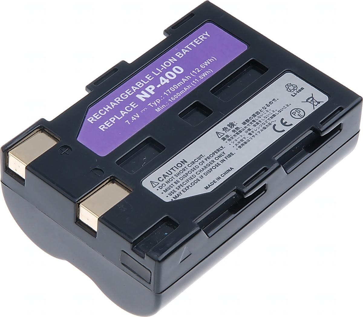 Baterie T6 power Minolta NP-400, Pentax D-Li50, Samsung SLB-1674, 1600mAh, 11, 8Wh