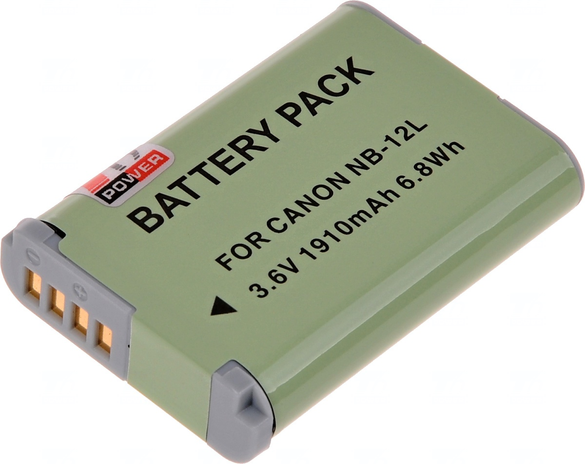Baterie T6 power Canon NB-12L, 1800mAh, 6, 7Wh