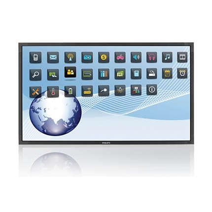 "Obrázok produktu 84"" E-LED Philips BDL8470T- UHD, IPS, 350cd, 10 TP"
