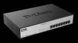 D-Link DGS-1008MP 8x 1000 Desktop Switch, 8PoE port