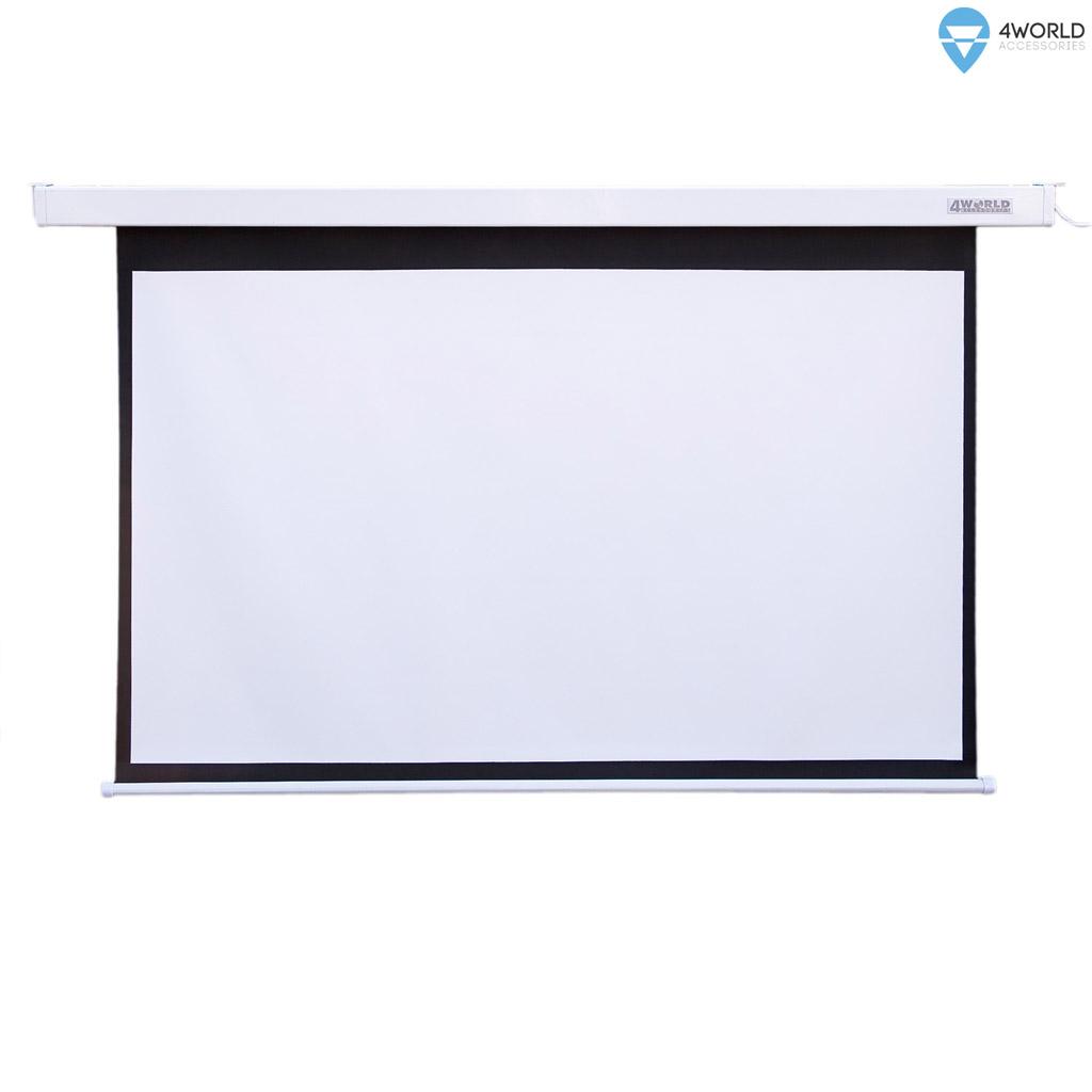 """4World Projekční plátno elektrické DO 203x152 100"""" 4:3"""