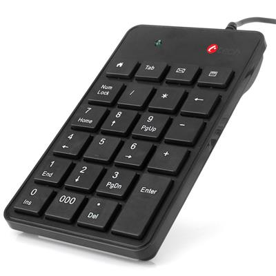 C-TECH KBN-01, numerická, 23 kláves, USB slim black