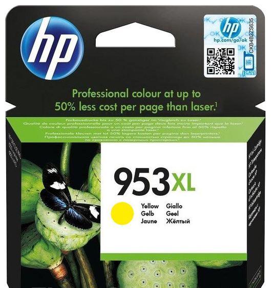 HP 953XL žlutá inkoustová kazeta, F6U18AE