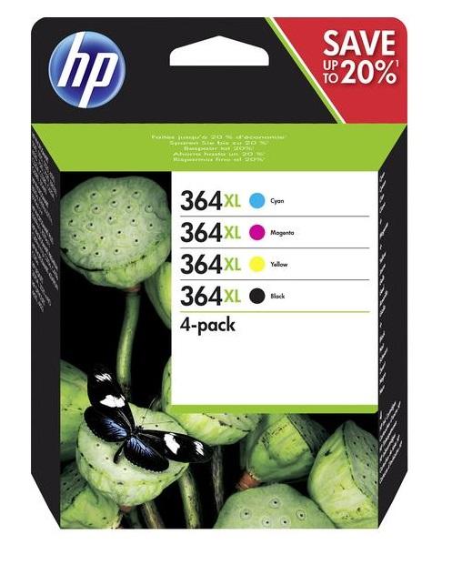 HP 364 XL - Combo pack C/ M/ Y/ K, N9J74AE