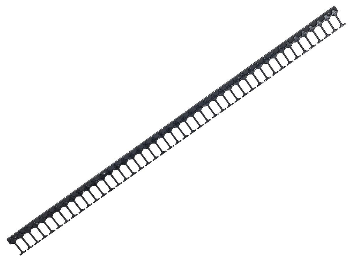 Vyvazovací panel 42U - Hřeben, jednořadý, RAL9005