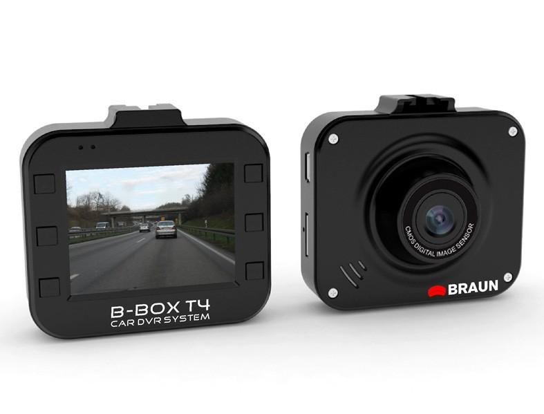 """BRAUN B-BOX T4 kamera do auta (Full HD, velmi malá, objektiv Wide 120°, 2""""LCD, G-sensor, Loop)"""