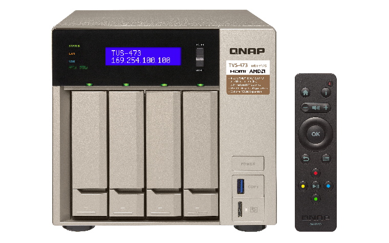 Obrázok produktu QNAP TVS-473-8G (2, 1G/ 8GB RAM/ 4xSATA)
