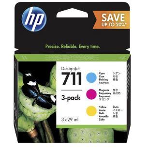 HP no 711 CMY - 3 pack, P2V32A
