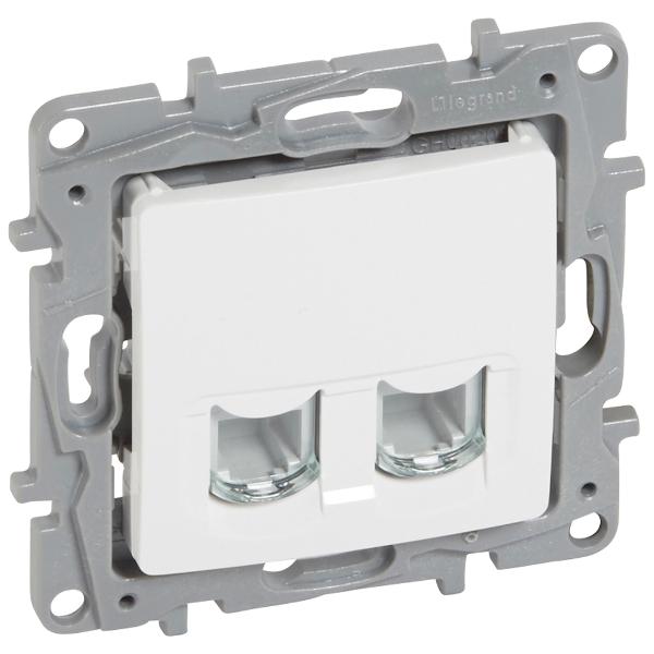 Obrázok produktu NILOÉ 2-zásuvka datová RJ45 Cat.6 UTP bílá