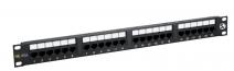 "19"" Patch panel Solarix 24xRJ45 CAT5E UTP černý 150MHz"