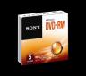 Média DVD-RW SONY; 4.7GB; 5 ks v balení (120 min.)