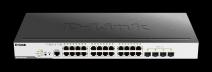 D-Link DGS-3000-28LP 24xGbE PoE+, 4x SFP, L2 mng