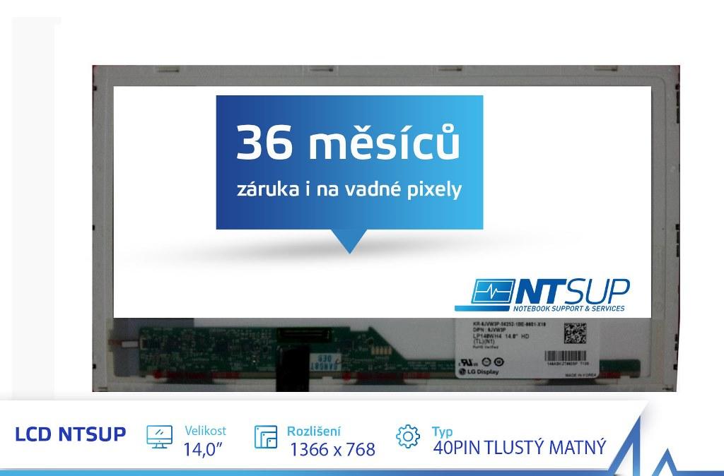 """LCD PANEL NTSUP 14, 0"""" 1366X768 40PIN TLUSTÝ MATNÝ"""