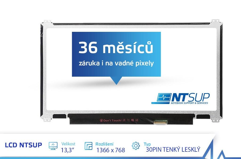 """LCD PANEL NTSUP 13, 3"""" 1366X768 30PIN TENKÝ LESKLÝ"""