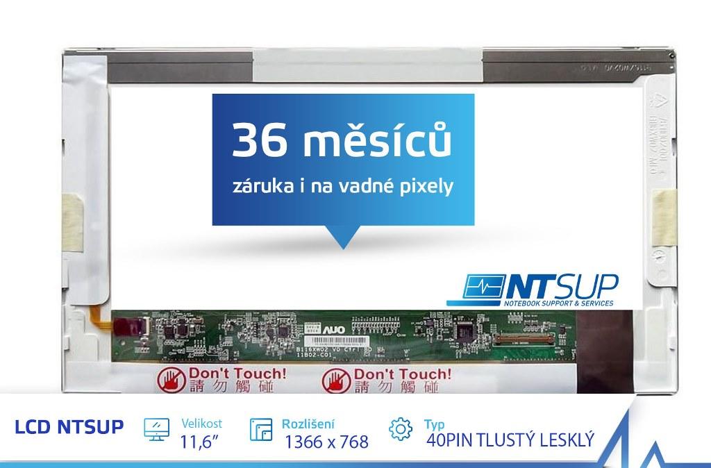 """LCD PANEL NTSUP 11, 6"""" 1366X768 40PIN TLUSTÝ LESKLÝ"""