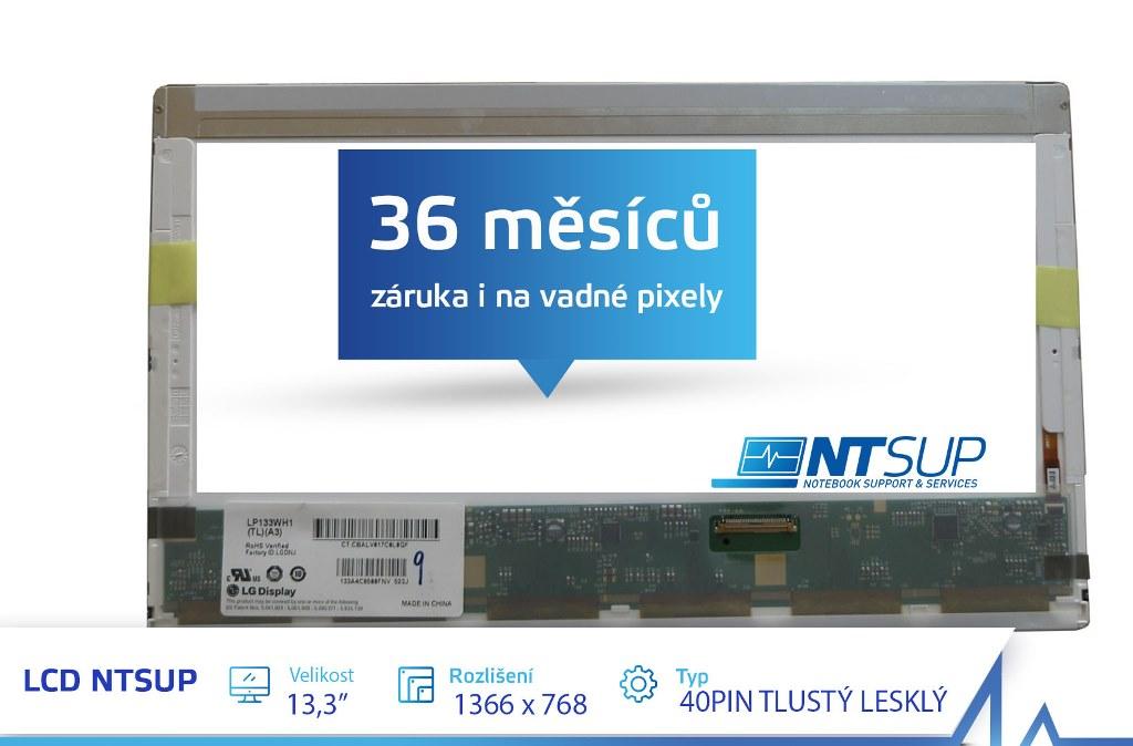 """LCD PANEL NTSUP 13, 3"""" 1366X768 40PIN TLUSTÝ LESKLÝ"""