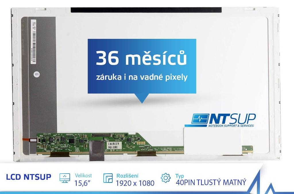"""LCD PANEL NTSUP 15, 6"""" 1920x1080 40PIN TLUSTÝ MATNÝ"""