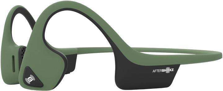 AfterShokz Trekz Air, Bluetooth sluchátka před uši, zelená