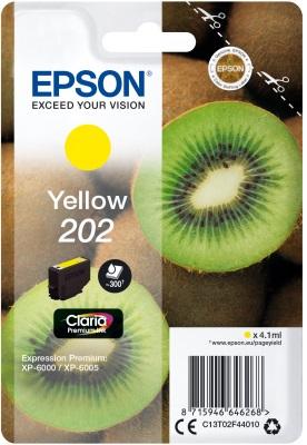 EPSON singlepack, Yellow 202, Premium Ink, standard