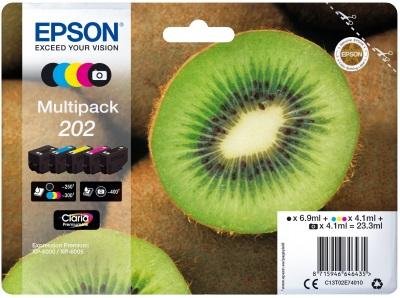 EPSON multipack 5 barev, 202 Premium Ink, standard