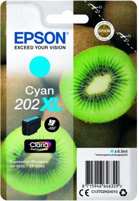 EPSON singlepack, Cyan 202XL, Premium Ink, XL