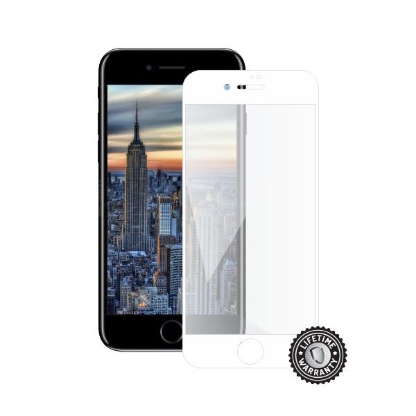 Screenshield APPLE iPhone 8 Tempered Glass Protection (full COVER white)