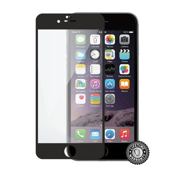 Screenshield APPLE iPhone 6 Plus / 6S Plus Tempered Glass protection (full COVER black)