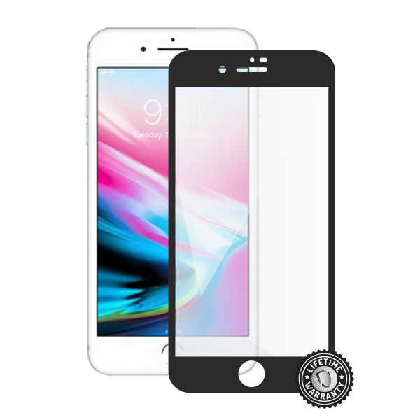 Screenshield APPLE iPhone 8 Plus Tempered Glass Protection (full COVER black)