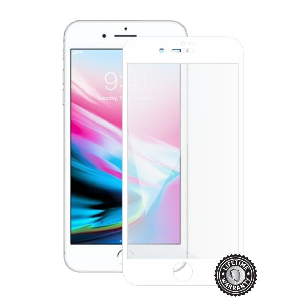 Screenshield APPLE iPhone 8 Plus Tempered Glass Protection (full COVER white)