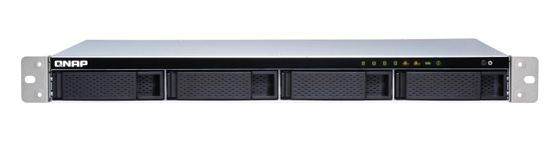 QNAP TS-431XeU-8G (1, 7GHz / 8GB RAM / 4x SATA / 2x GbE / 1x 10GbE SFP+ / 4x USB 3.0 / malá hloubka)
