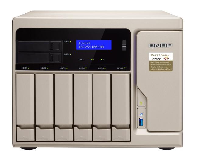 "QNAP TS-877-1600-8G (3, 6GHz / 8GB RAM / 6x 3, 5"" + 2x 2, 5"" SATA / 2x M.2 SATA slot / 4xG"