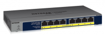 NETGEAR 8-port 10/ 100/ 1000Mbps Gigabit Ethernet, Flexible PoE, GS108PP