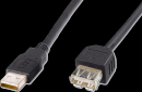 Kabel USB prodlužovací A-A, 2 m, černý