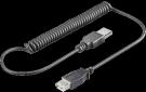 Kabel USB prodlužovací A-A, 0, 5-1, 5 m, kroucený, černý