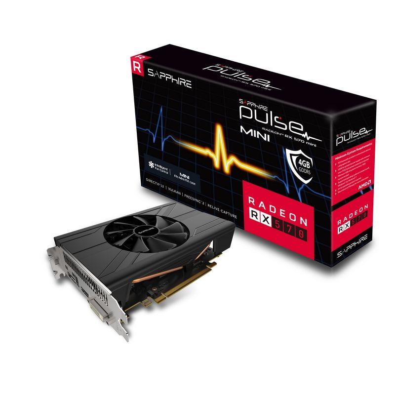 Obrázok produktu Sapphire PULSE RX570 4GB (256) aktiv D H DP ITX