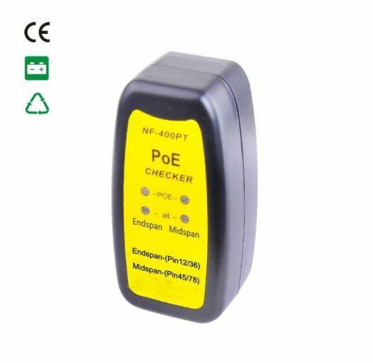 Zkoušečka kabelů POE, poe tester dle 802.3at