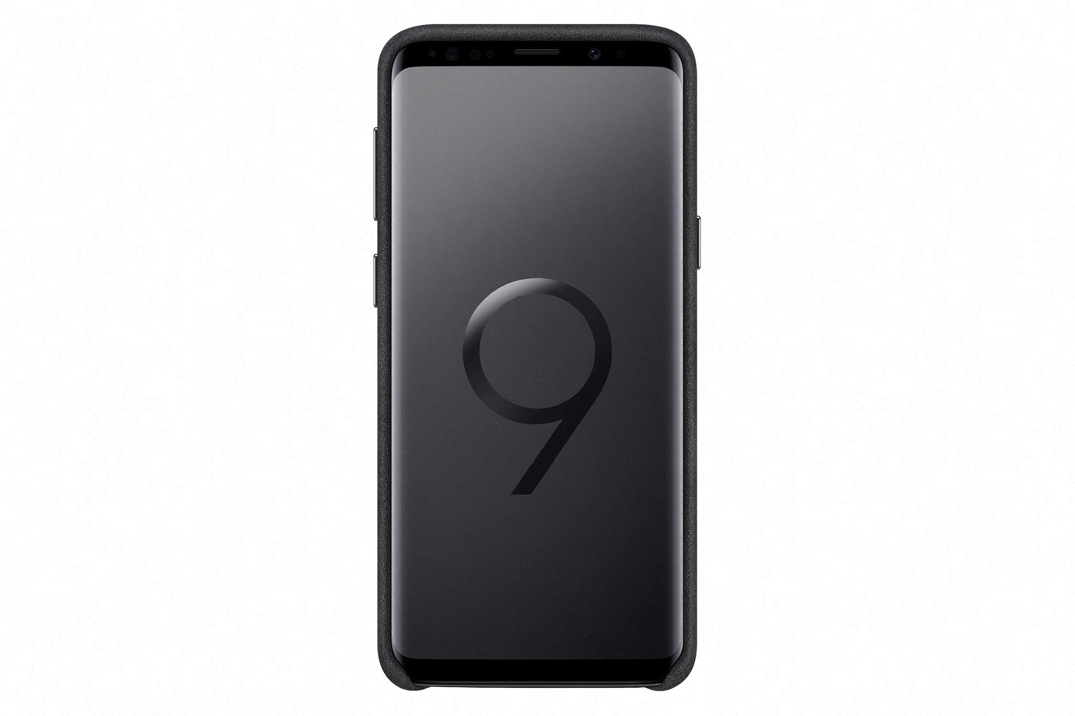 Samsung Zadní kryt - kůže Alcantara pro S9 Black