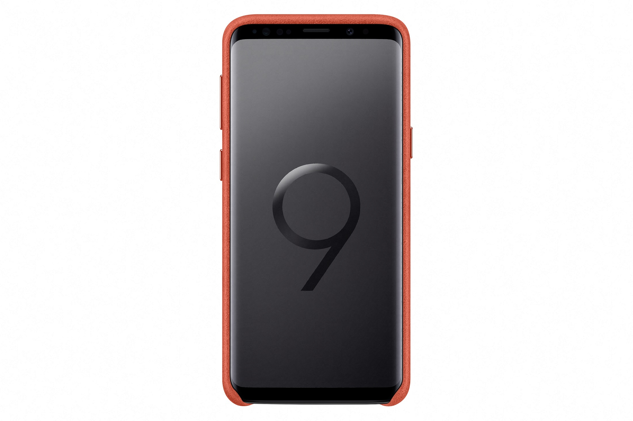 Samsung Zadní kryt - kůže Alcantara pro S9 Red