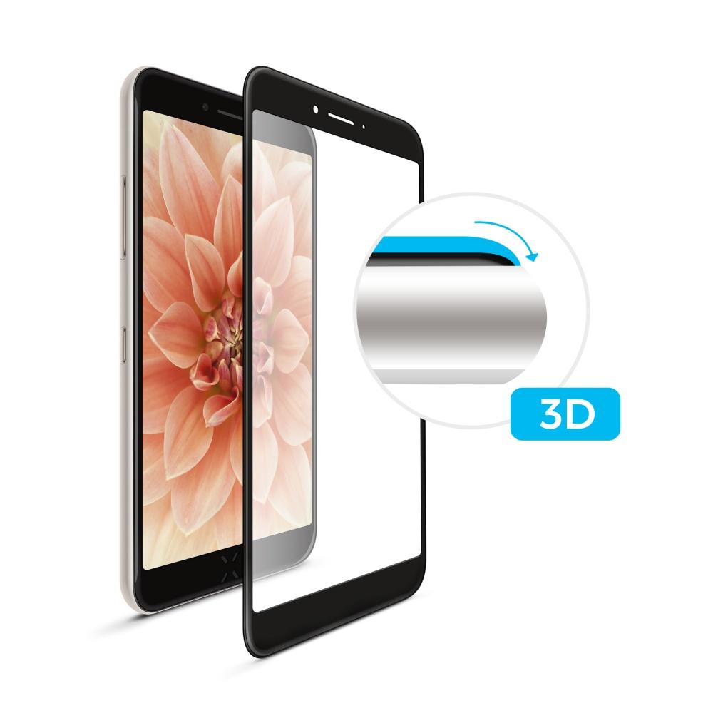 3D sklo FIXED iPhone 7Plus/ 8Plus, plné lepení, černé