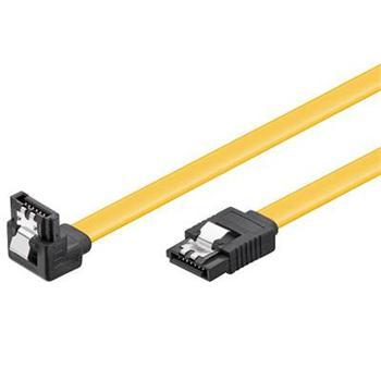 PremiumCord SATA 3.0 datový kabel, 6GBs, 90°, 0, 7m