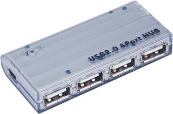 PremiumCord USB 2.0 HUB 4-portový s napájecím adaptérem 5V 2A