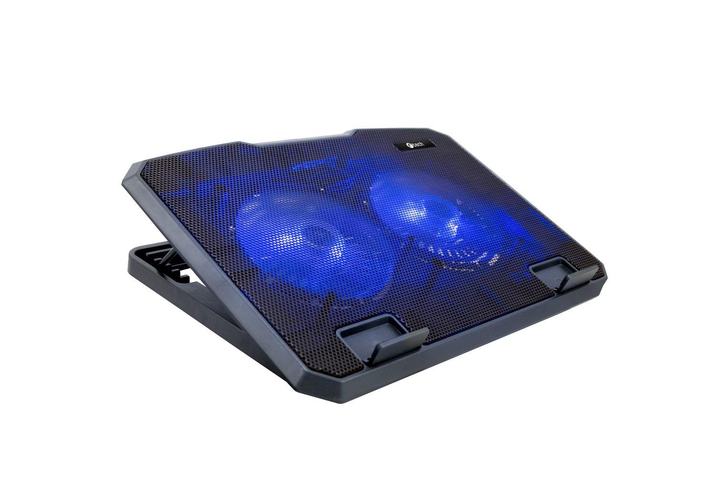 """Chladící podložka C-TECH CLP-140, 15, 6"""", 2x 140mm, 2x USB, modré podsvícení"""