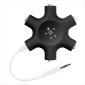 BELKIN RockStar sluchátkový rozdělovač, 5 portů, černý