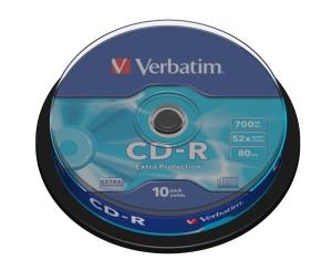 VERBATIM CD-R(10-Pack)Spindl/ 52x/ 700MB