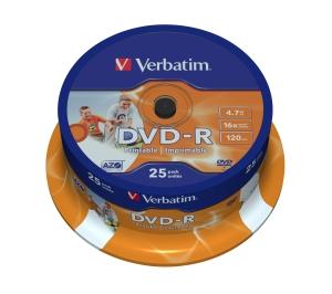 VERBATIM DVD-R(25-Pack)Spindl/ Printable/ 16x/ 4.7GB