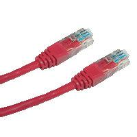 DATACOM patch cord UTP cat5e 0, 5M červený