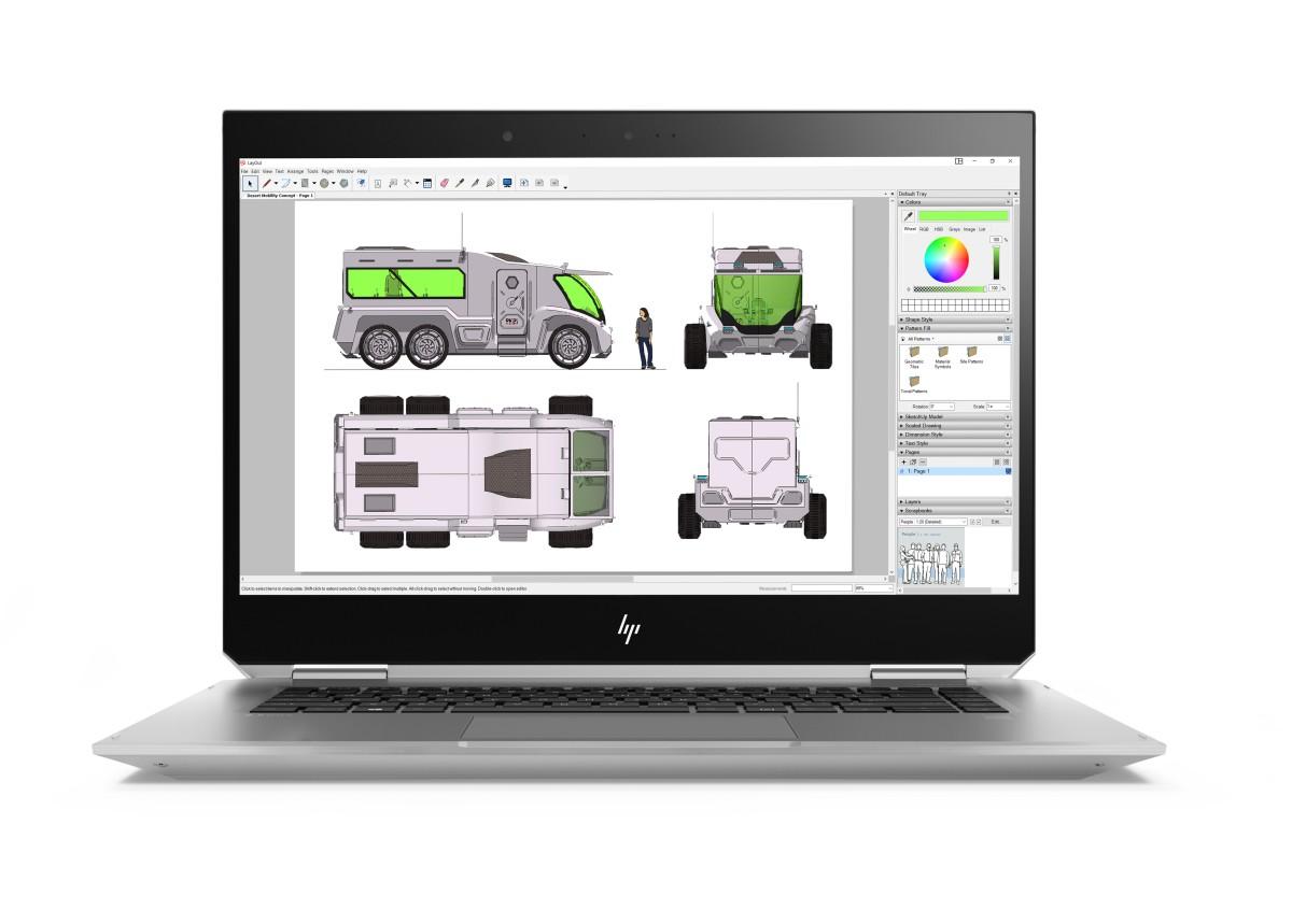 HP ZBook Studio x360 G5 FHD/ i5-8300H/ 8GB/ 512GB/ NVIDIA QP1000/ DOS